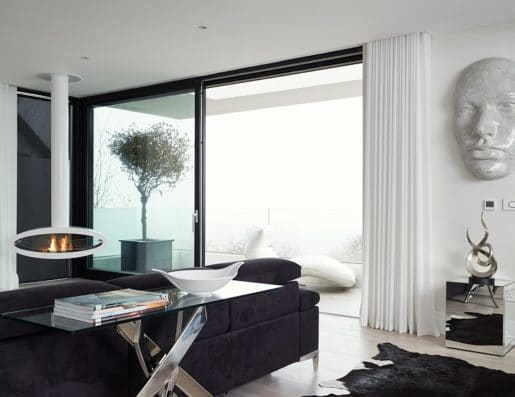 Contemporary Room with Sliding Doors