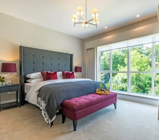 Aluclad Windows in Contemporary bedroom