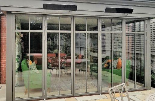 BiFold Doors Quartz Grey