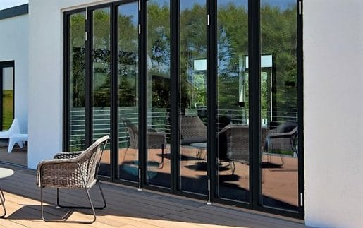 Bifold Doors and outdoor seating