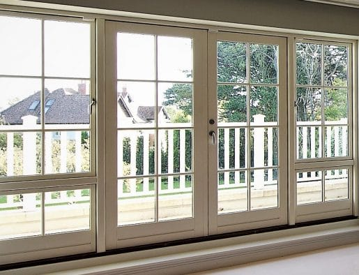 Timber French Patio Glass Door